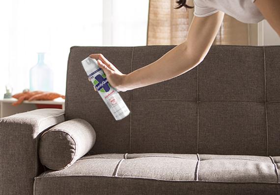 How to use aerosols to freshen soft surfaces