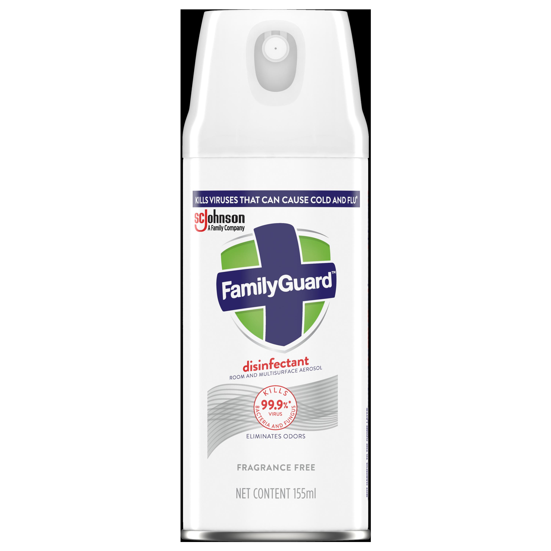FamilyGuard Aerosol Disinfectant Fragrance Free 155 mL