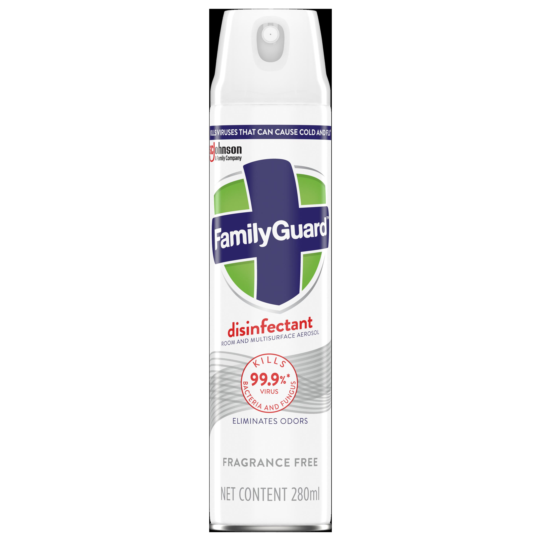 FamilyGuard Aerosol Disinfectant Fragrance Free 280 mL